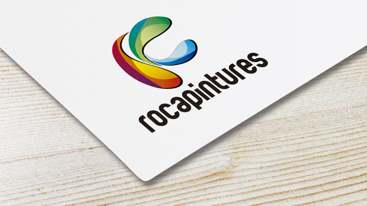 diseño gráfico, logotipo para rocapintures