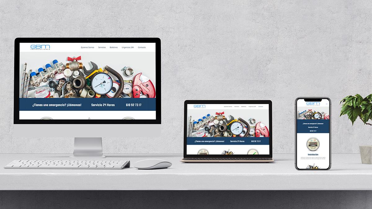 diseño web para instalacionesgbm