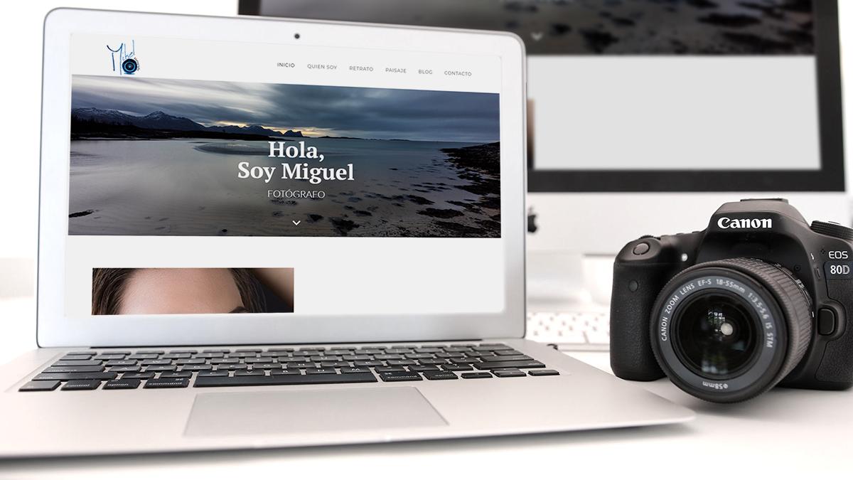 diseño web para mikelphotography