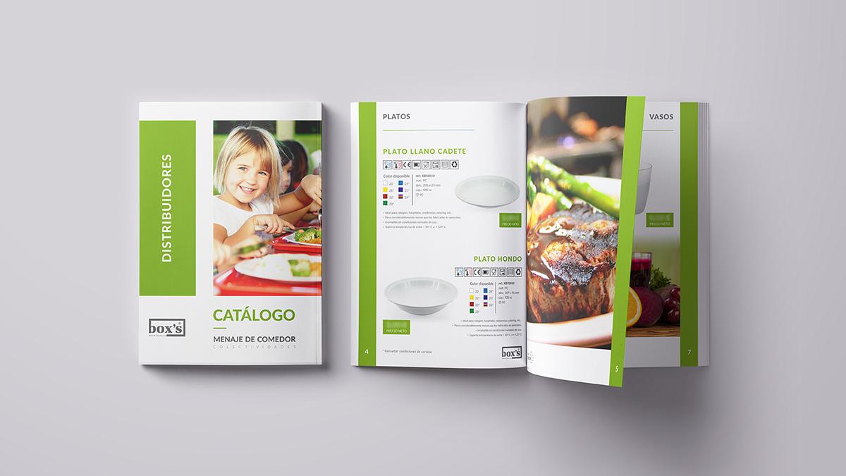 diseño gráfico, revista para boxs